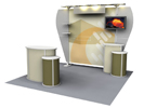 hybrid tension fabric display booth