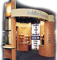 custom modular island display booth